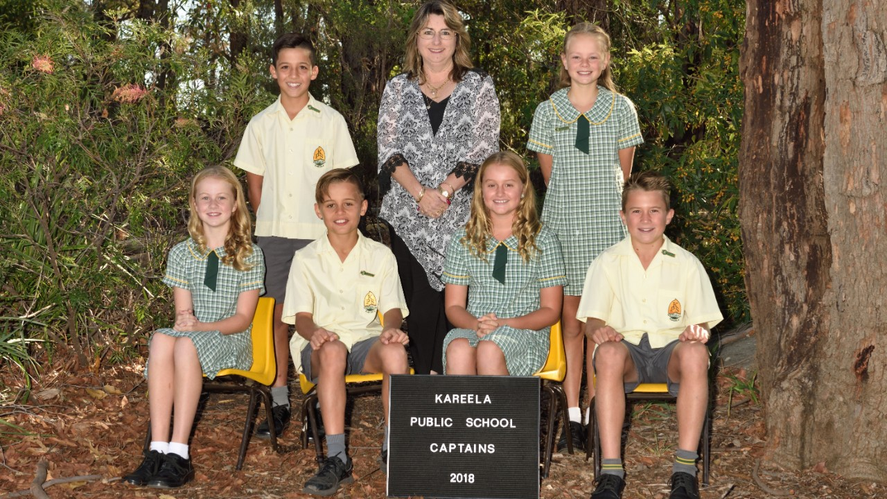Kareela Public School 2018 captains.